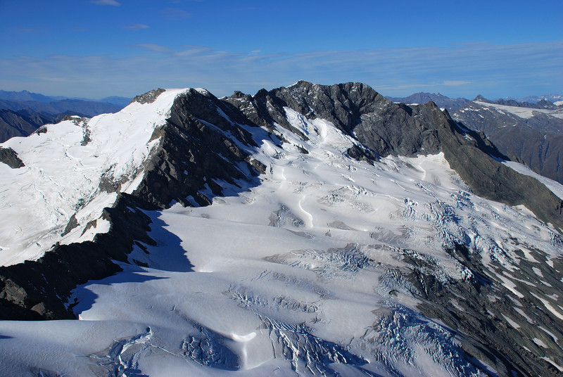 Rob Roy Peak and the Maud Francis Glacier from Mt Avalanche