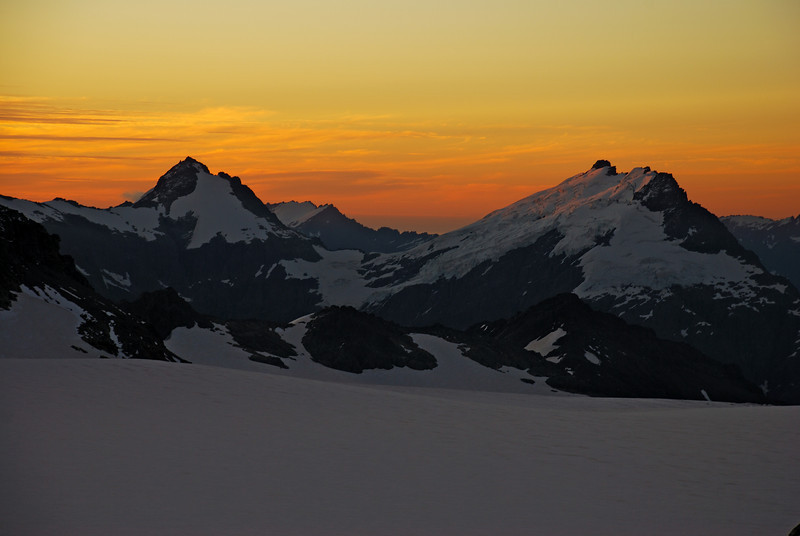 Mt Ionia and Eros at sunset