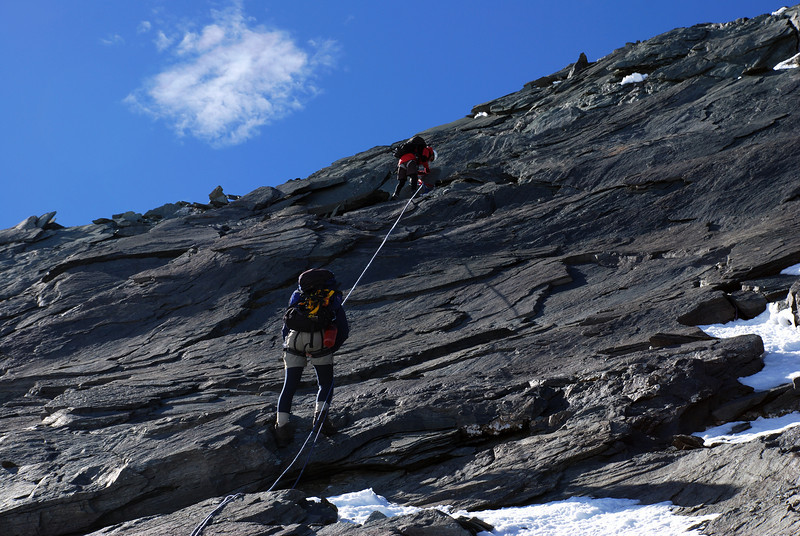 Abseiling off Mt Avalanche