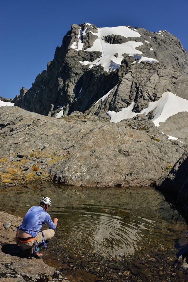 Tarn on the SE ridge of Mt Awful