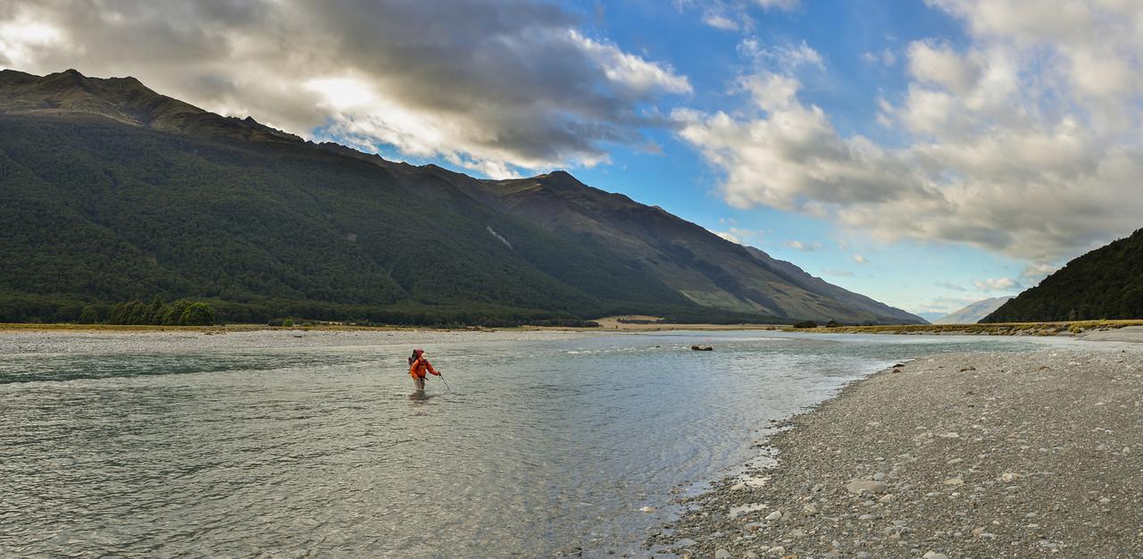 Crossing the Makarora River