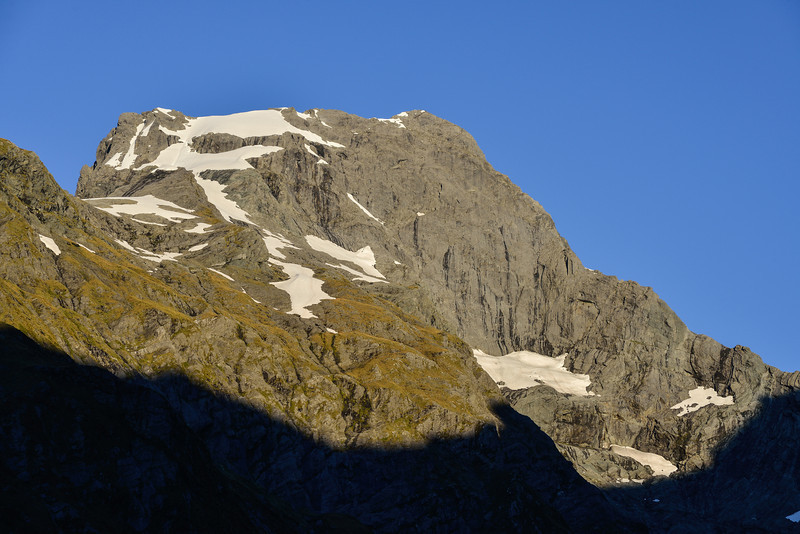 Climbing day! View of Mt Awful and its east face from our campsite in Young Basin