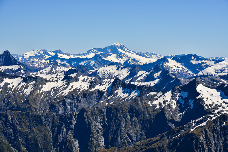 View from the summit of Mt Awful - Mt Aspiring