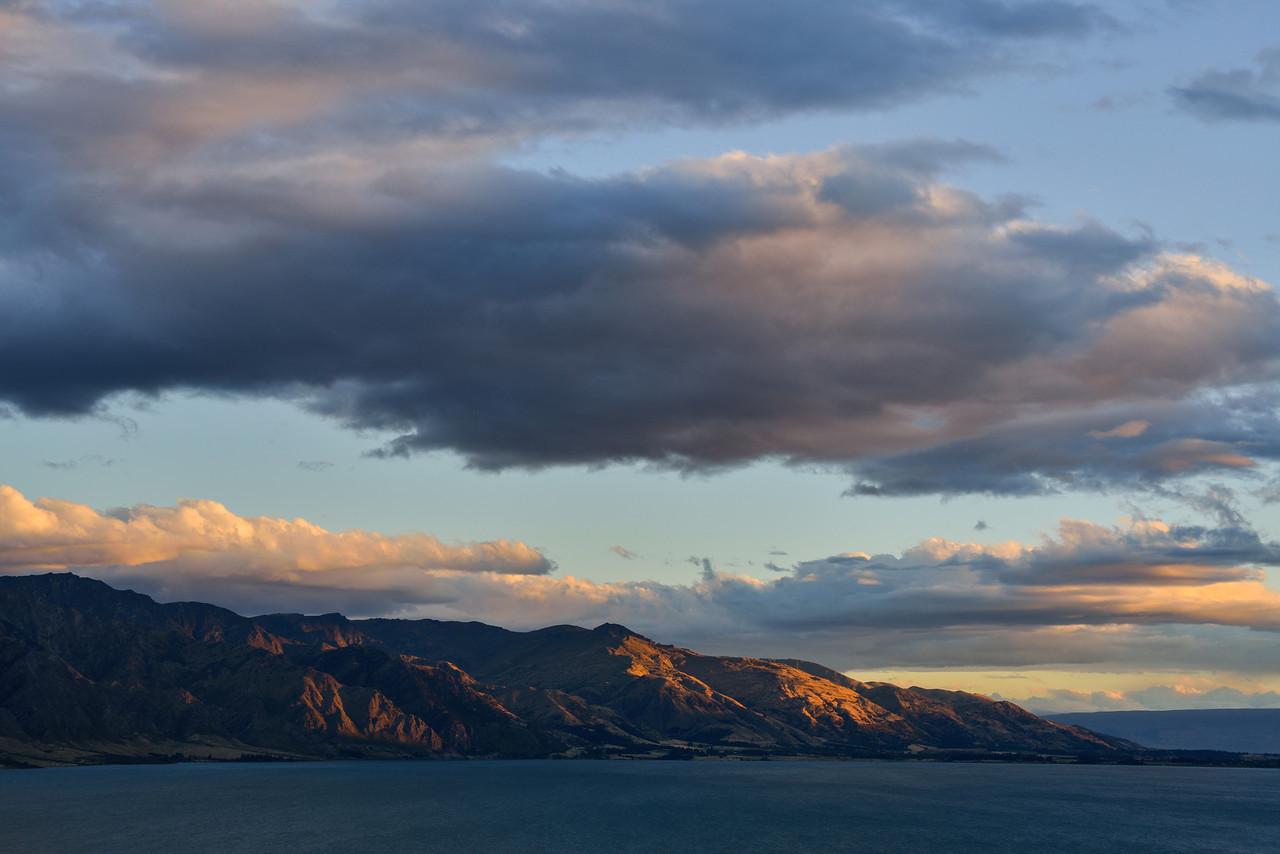 Lake Hawea at sunset