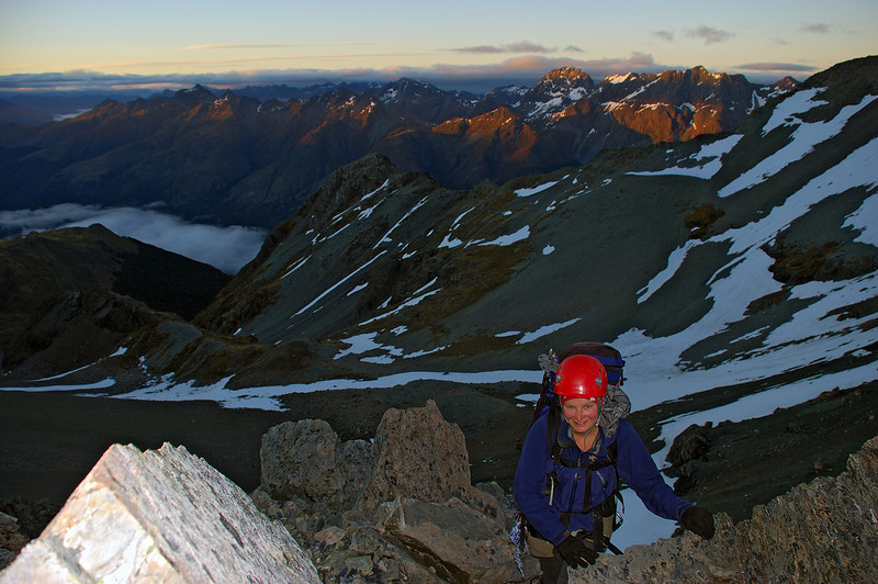 On the west ridge of Mount Bonpland