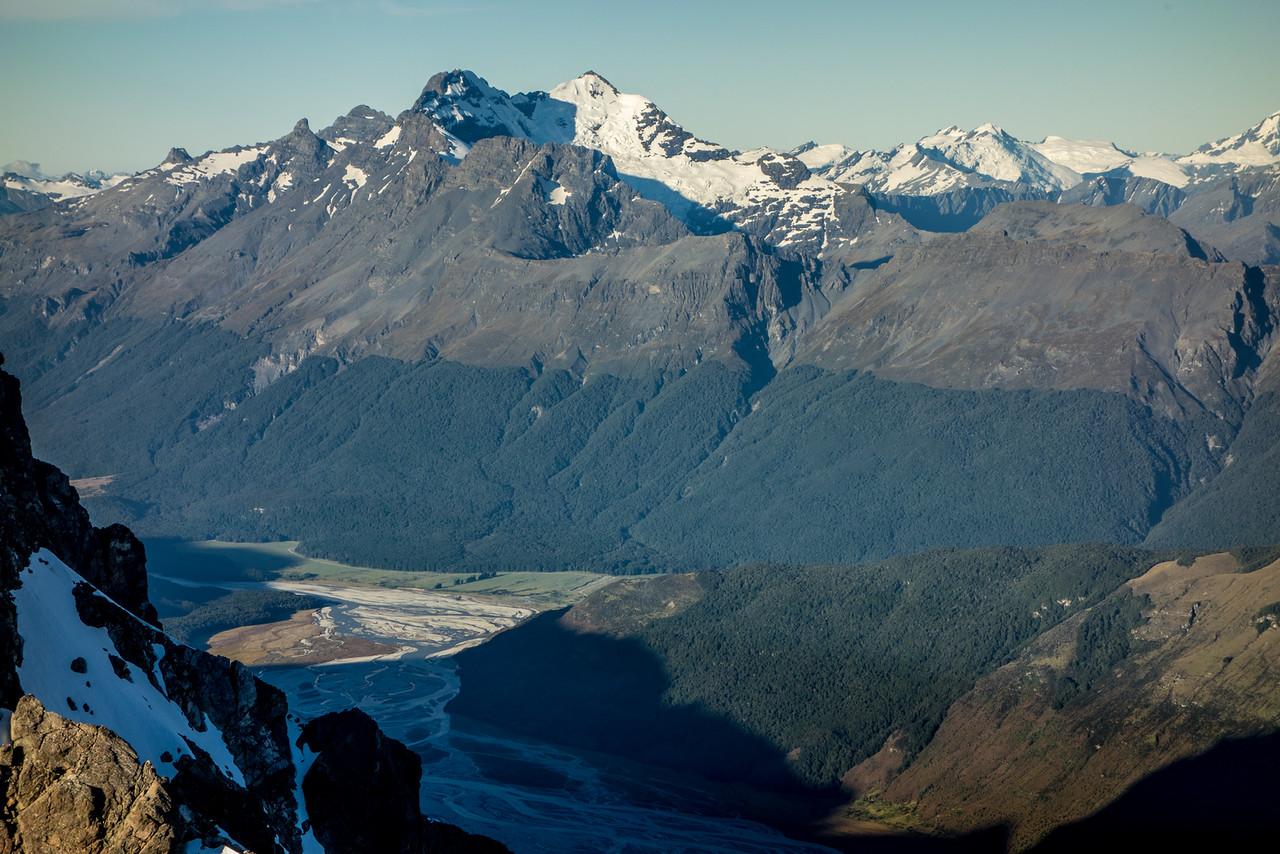 Mount Earnslaw / Pikirakatahi from Mount Bonpland