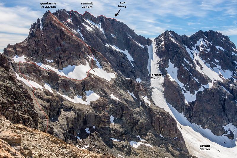 Mount Bonpland route topo 2