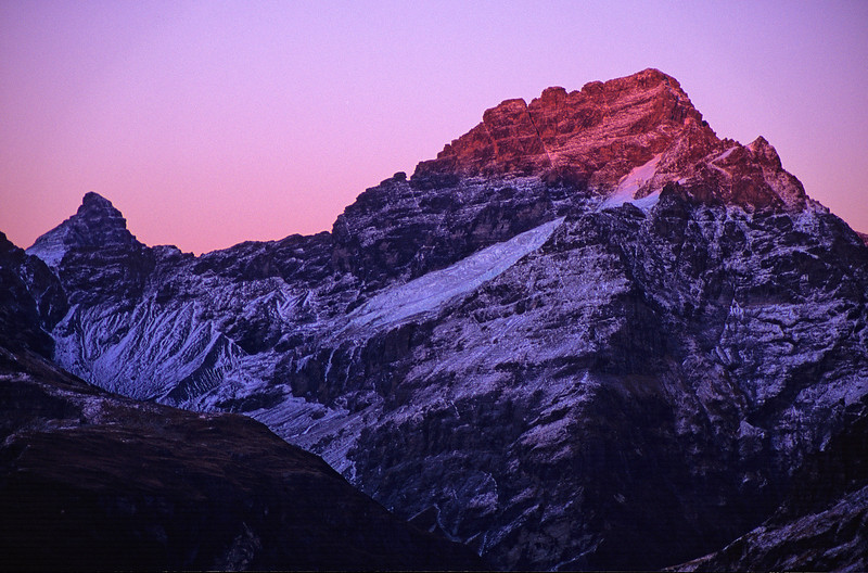 Pluto Peak and Sir William Peak at dawn