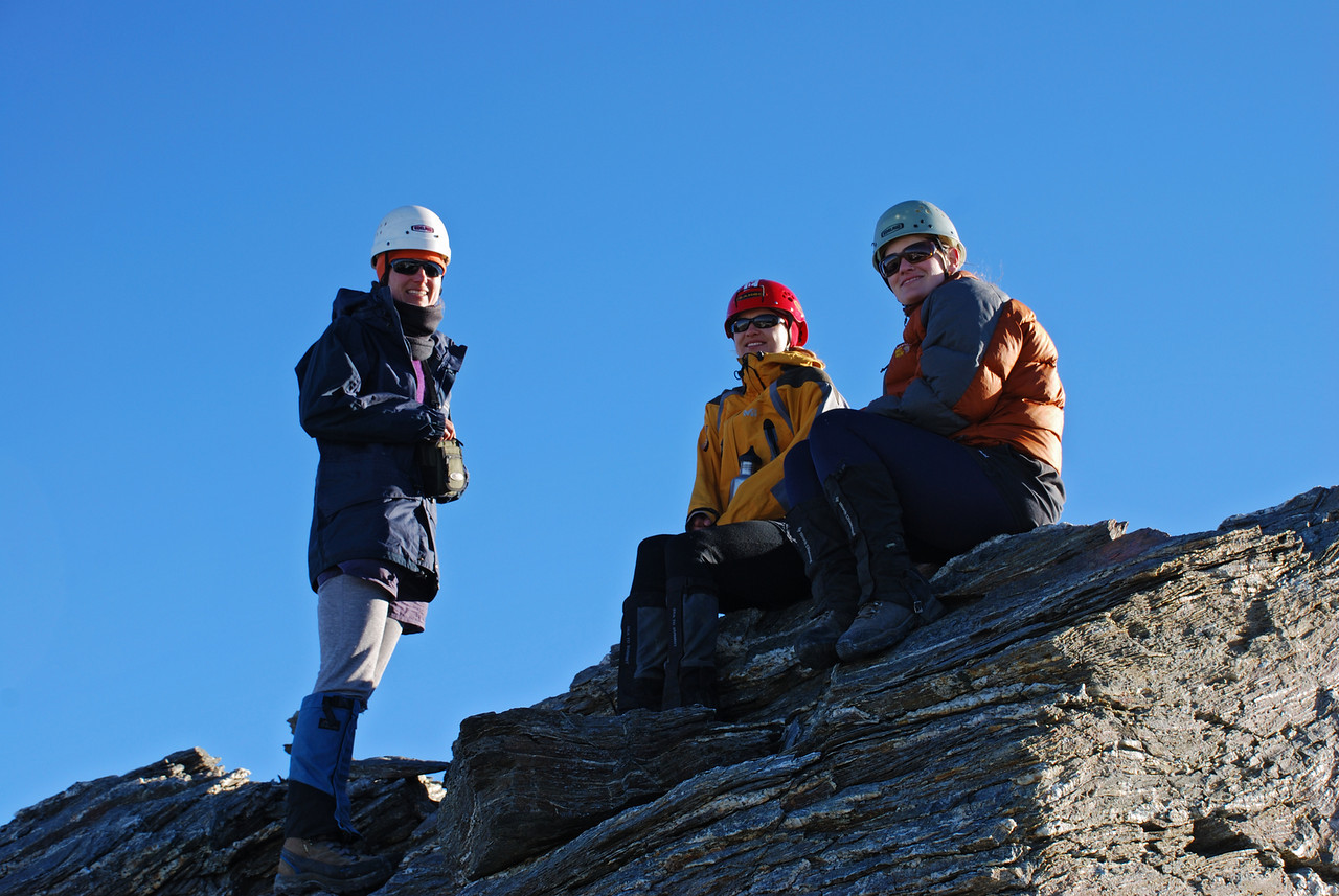 On the summit of Mount Ferguson
