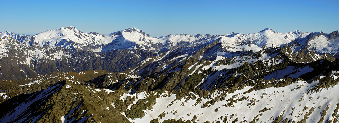 View from Mount Ferguson: Mount Ian, Mount Lydia, Mount Edward