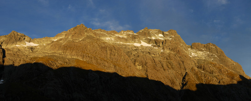The west face of Somnus from the rock bivvy below North Col