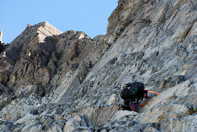 Heather descending from the saddle south of pt 1943m