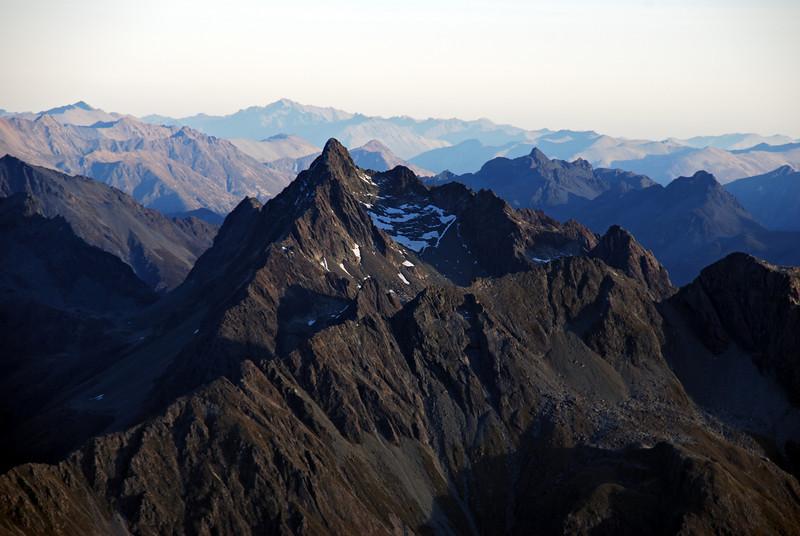 Unnamed peak 2117m in the Humboldt Mountains; Jane Peak behind.