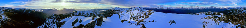 360 degree panorama from the top of Staircase Mountain