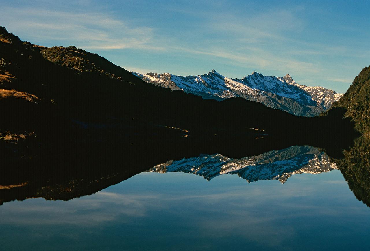 Lake Clarke. Gerard Knob, Mt Grant and Fingals Head.