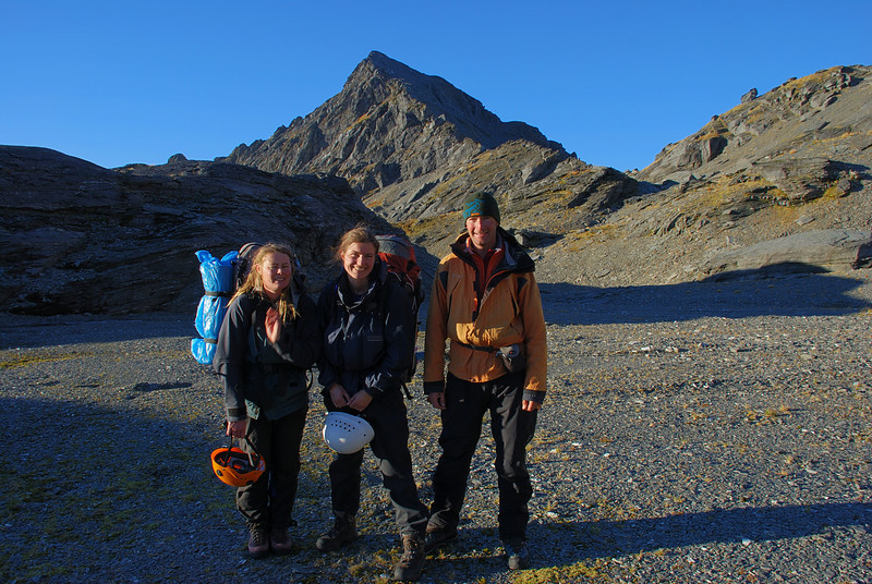 A happy team after a successful traverse of Mt Franklin