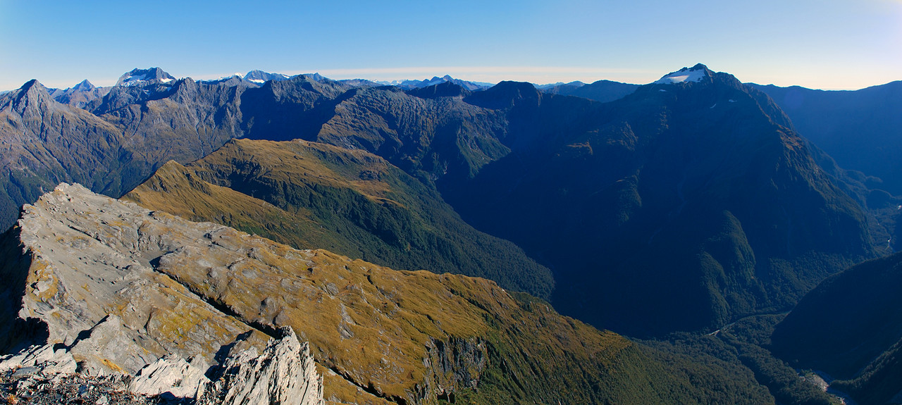 Panorama from the summit of Mt Franklin, Browning Range, looking south-west