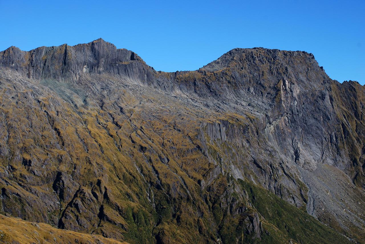 The striking bluffs of Mt Ruera