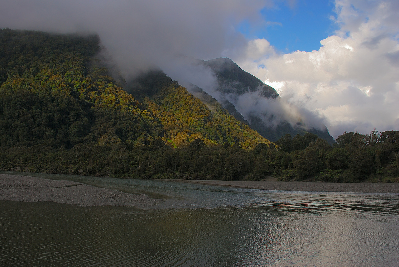 The Okuru River below Franklin Creek