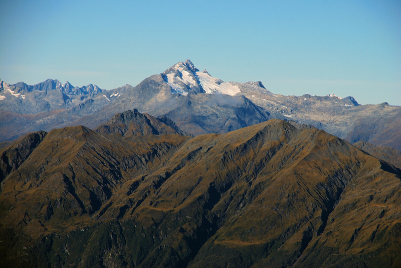 Mt Brewster from the summit of Mt Franklin, Browning Range