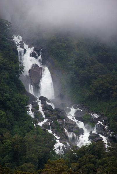 Staircase Creek waterfall, Okuru River