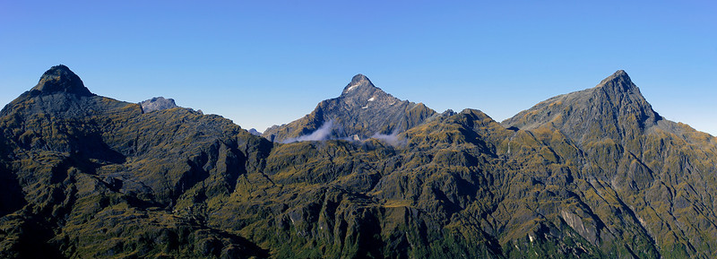 Young Peak, Mt Awful and Mt Doris across the Ngatau River from the Browning Range