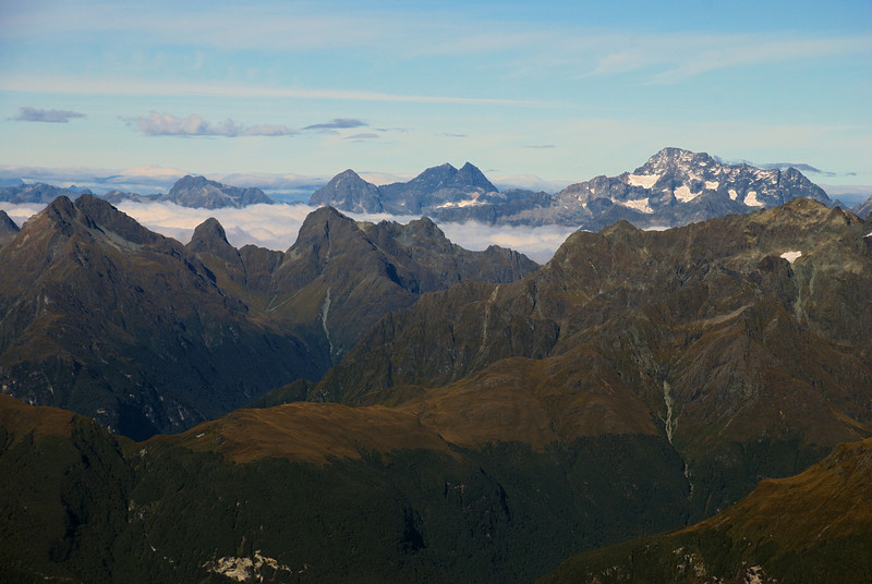 Sugarloaf Pass and the Humboldt Mountains (front), Earl Mountains (back) and Mt Christina from Pluto Col