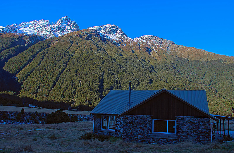 Aspiring Hut and Glengyle Peak