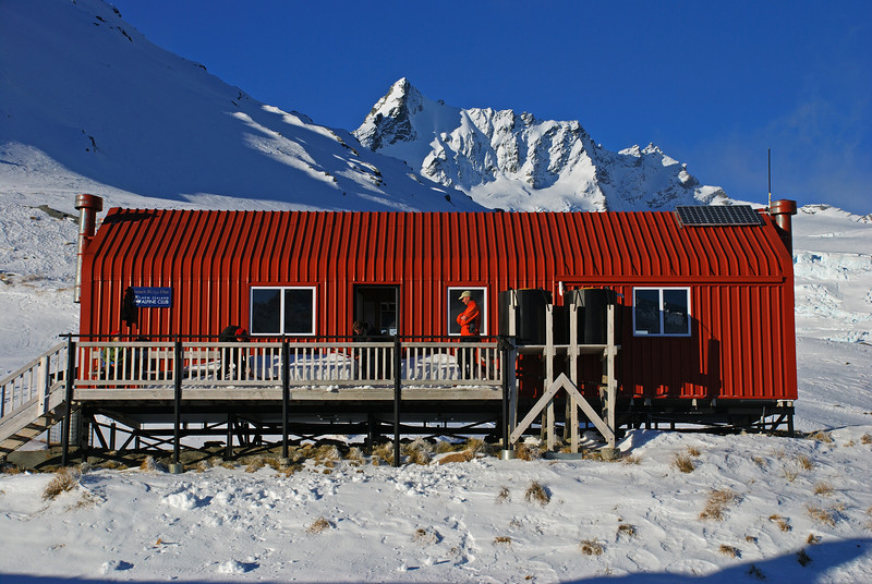 French Ridge Hut and Mt Avalanche