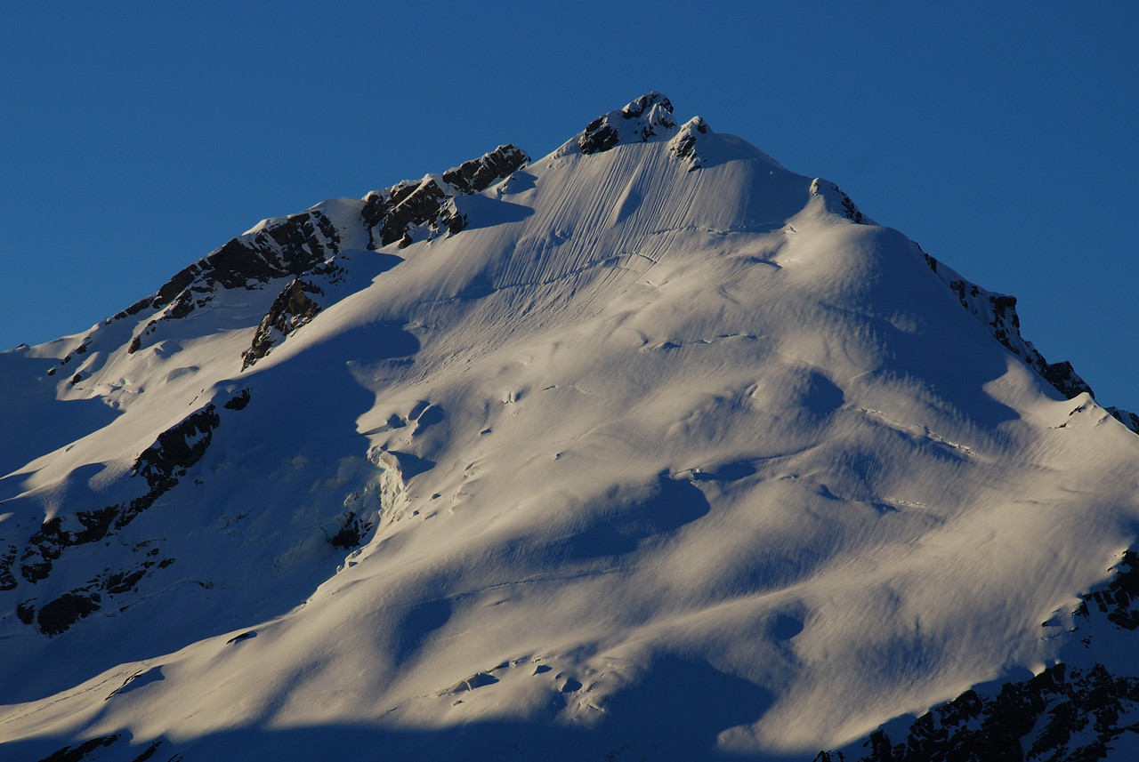 Evening light on the south face of Mount Barff.