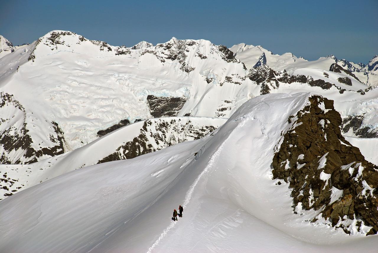 Near the summit of Rob Roy Peak.