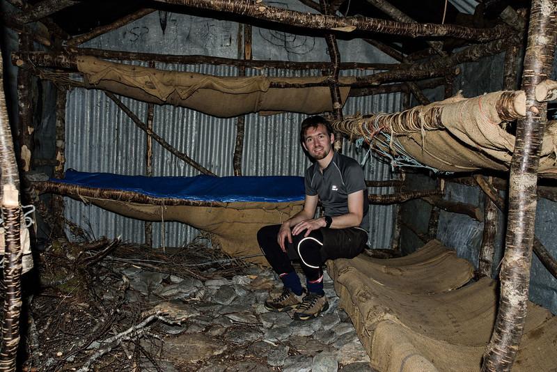 Kay Creek Hut. Richard's first hut in New Zealand!