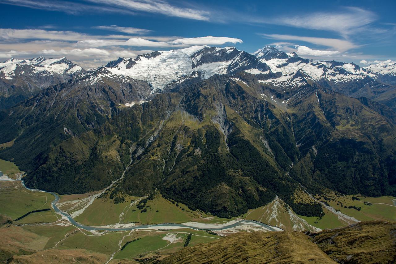 Rob Roy Peak and Mt Aspiring