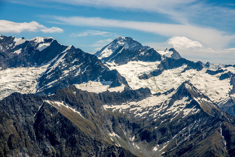 View of Mt Aspiring from Sharks Tooth Peak