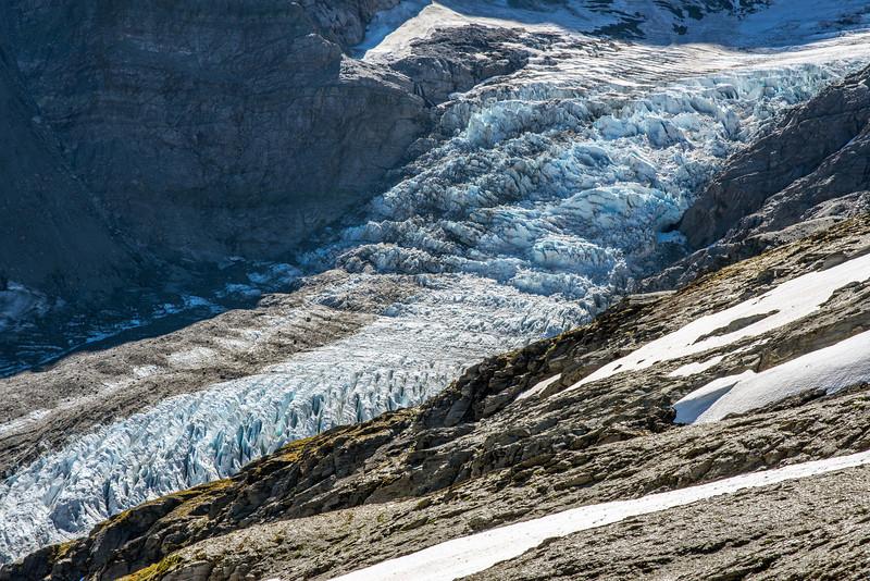 Dart Glacier icefall
