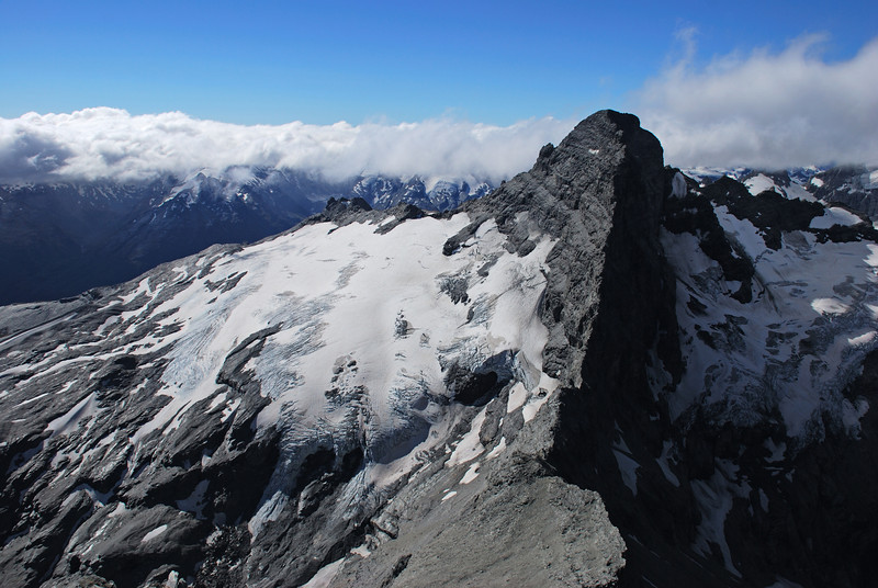 Sir William Peak and the Frances Glacier from O'Leary Peak