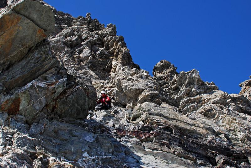 Jaz descending Sir William Peak