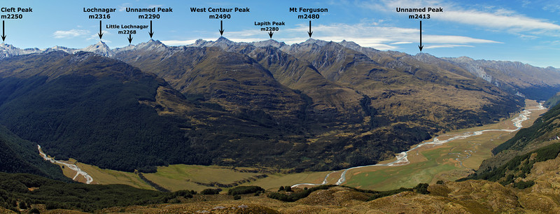 The Richardson Mountains, across the Rees River from the spur north of Kea Basin.