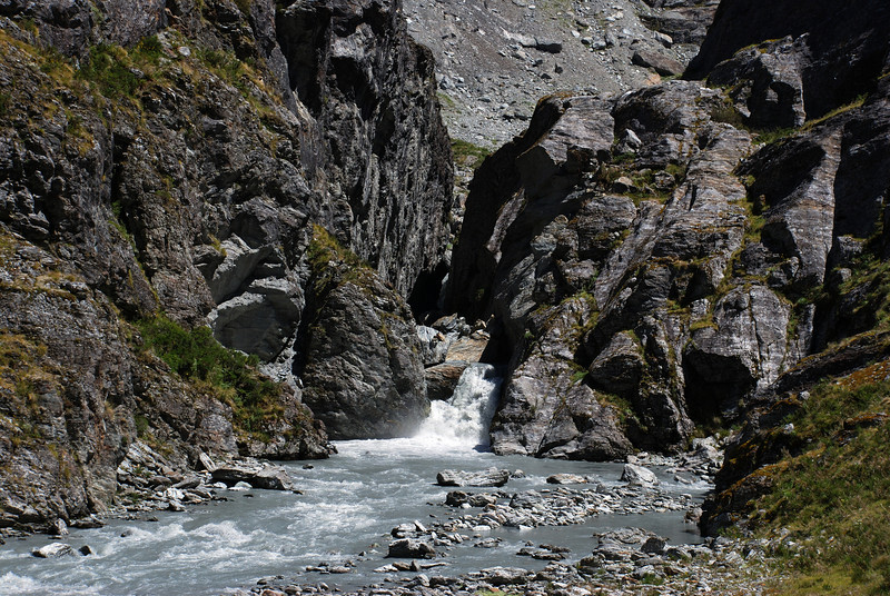 The narrow gorge in the Whitbourn River