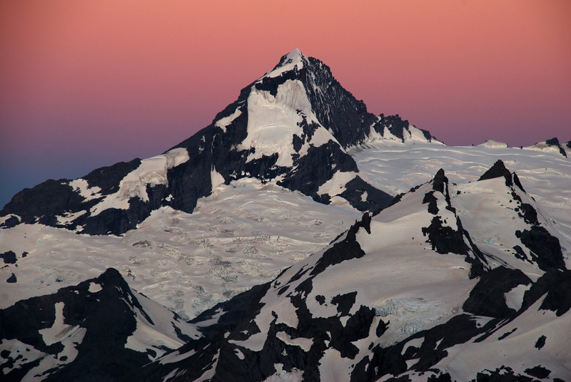 Mt Aspiring at dusk.