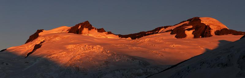 Last evening light on Mt Maoriri and Mt Edward