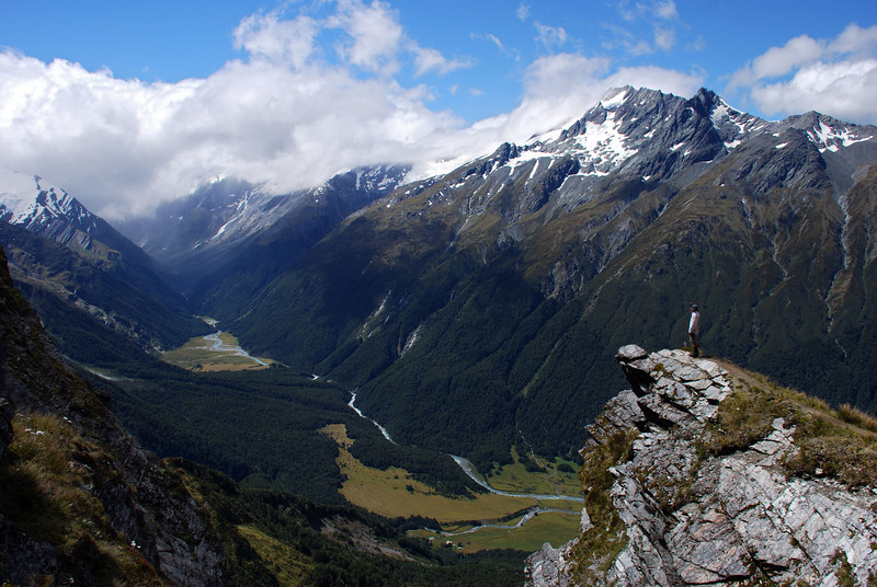 On the way to Cascade Saddle, looking into the West Matukituki Valley