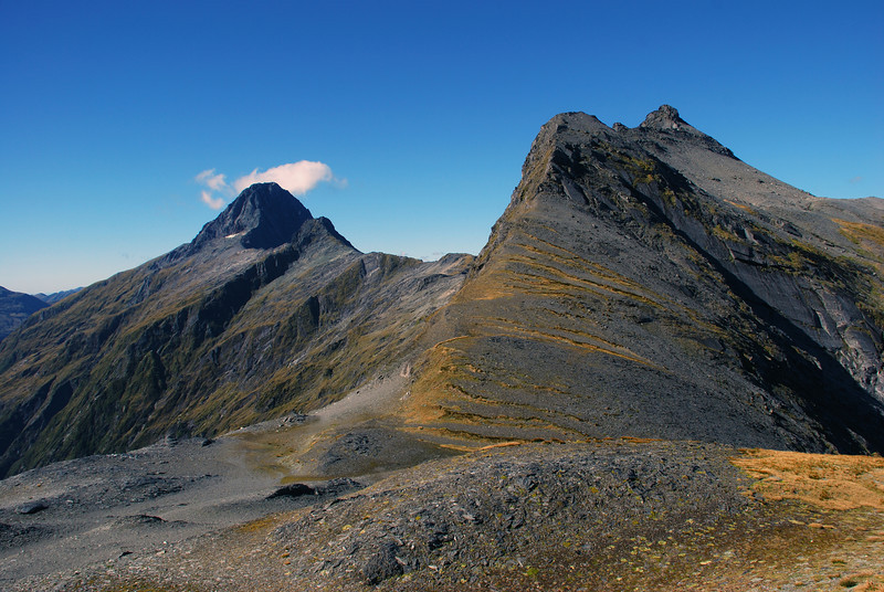 Mt Aeolus and the Sentinel from the north