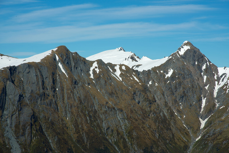 Pt 1690m, Mt Stuart and Mt Cameron from Mt Cross