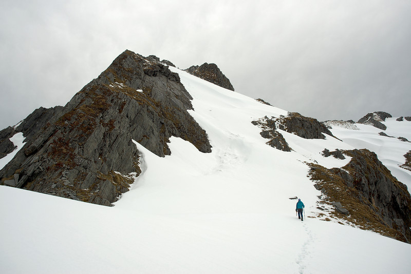 On the Lindsay Peak's north ridge
