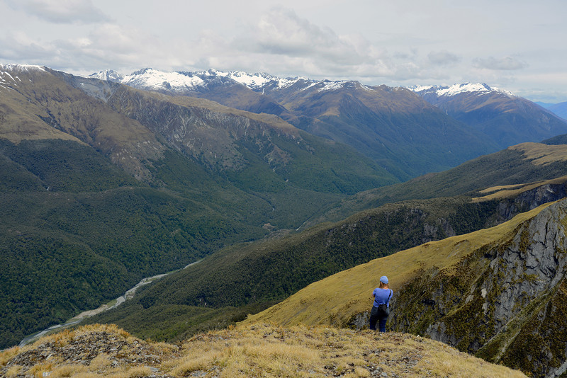 On Mount Wilson, looking into the Makarora River