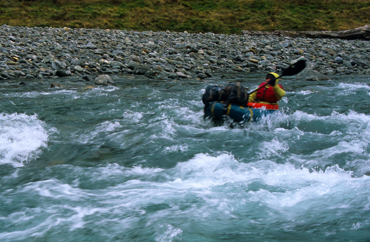 Rafting the Wilkin River at Kerin Forks