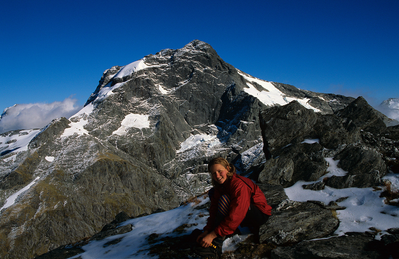 On the west ridge of unnamed peak 2026m. The east face of Mt Awful in the back