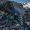 The team at (one of the) Canyon Creek rock bivvy(s)