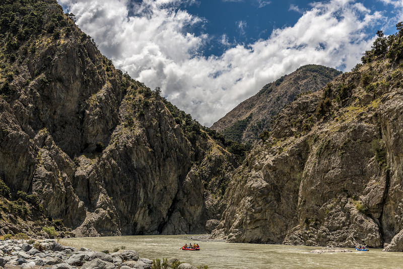 Entering the beautiful gorge downstream of the Jawbreaker Rapid